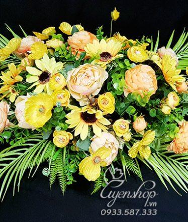Hoa lụa, hoa giả Uyên shop, Hoa Bàn Họp Đẹp