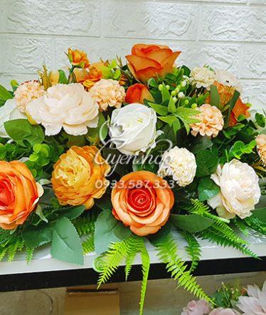 Hoa lụa, hoa giả Uyên shop, Hoa Lụa – Hoa Bàn Họp