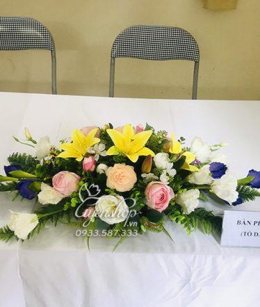 Hoa lụa, hoa giả Uyên shop, Hoa Lụa – Hoa Bàn Họp Nhỏ