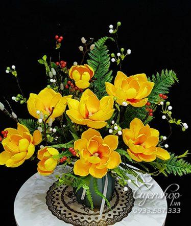 Hoa lụa, hoa giả Uyên shop, Hoa Lụa – Hoa Mộc Lan