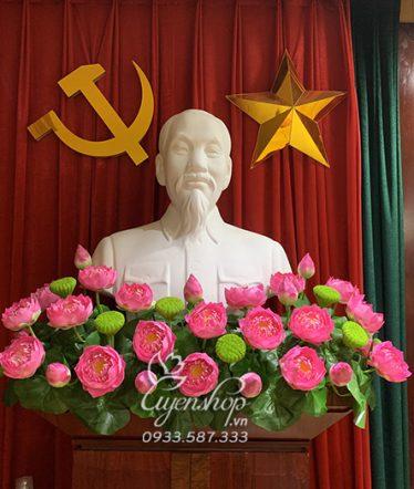 Hoa lụa, hoa giả Uyên shop, Hoa Trang Trí Tượng Bác Hồ