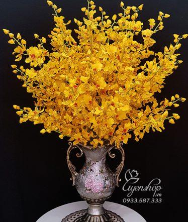 Hoa lụa, hoa giả Uyên shop, Bình Lan Vàng Vũ Nữ