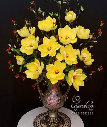 Hoa lụa, hoa giả Uyên shop, Mộc Lan Vàng sang trọng