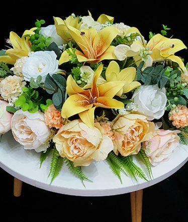 Hoa lụa, hoa giả Uyên shop, Hoa Bàn Họp – Hoa Lụa