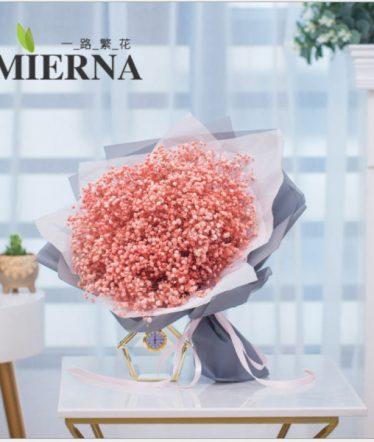 Hoa lụa, hoa giả Uyên shop, Bó Hoa BaBy Tròn