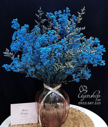 Hoa lụa, hoa giả Uyên shop, Hoa Baby xanh